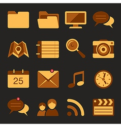 Flat icons set 5 vector