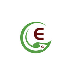eco home initial e vector image
