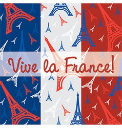 France celebration card vector