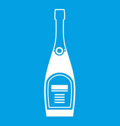 bottle of champagne icon white vector image