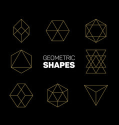 Abstract regular geometric shapes vector