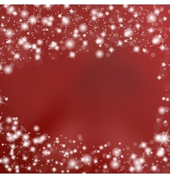 Red background with stars vector