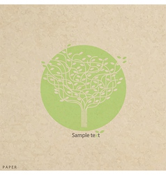 Grunge paper texture stylized tree and icon vector