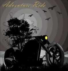 adventure ride vector image