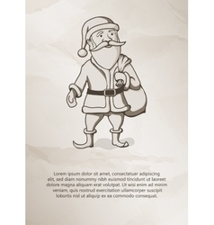 Vintage style father christmas santa claus vector