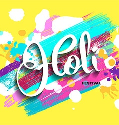 Happy holi background vector