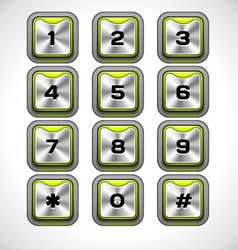 Metal keypad vector
