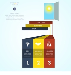 Nfographic template steps 3 vector