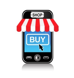 Store and purchase using a mobile phone vector