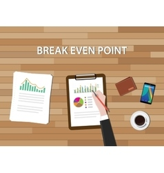 bep break even point graph chart and vector image