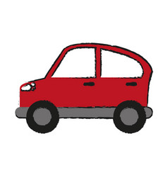 Car coupe sideview icon image vector