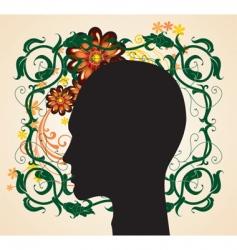 floral head vector image vector image