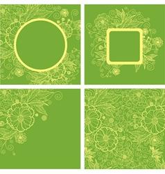 Flower spring set Backs vector image vector image