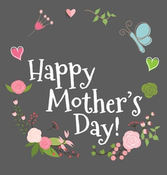 Happy Mothers Day with Floral bouquets background vector image