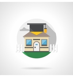 Intelligent house round color detailed icon vector image