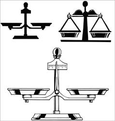Libra silhouettes vector image