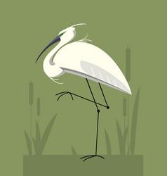 Little egret minimalistic image vector