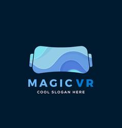 Magic virtual reality abstract vector
