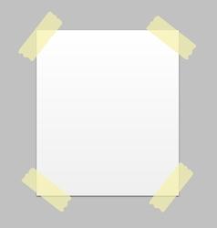 notice paper vector image vector image