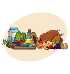 Nutrition basic ingredients diet healthy vector