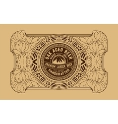 Old beer label vector