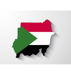 Sudan map with shadow effect vector