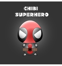 Superhero in chibi style vector