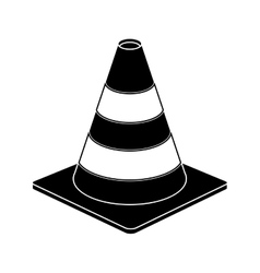 traffic cone warning sign design pictogram vector image