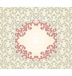 vintage pattern with floral frame vector image