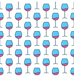 Wine glasses seamless pattern vector image vector image