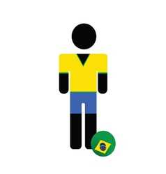 world cup in brasil icon color vector image vector image