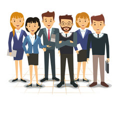Business team of employees vector