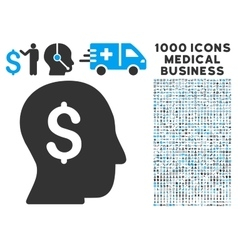 Businessman icon with 1000 medical business vector