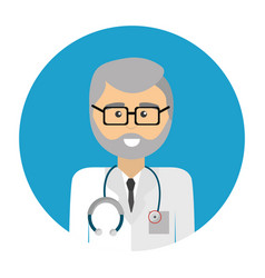 Professional doctor with glasses uniform and vector