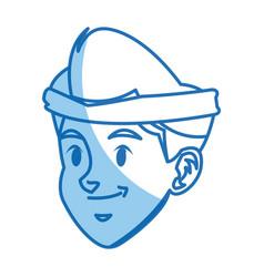 Cartoon boy head sport design graphic vector