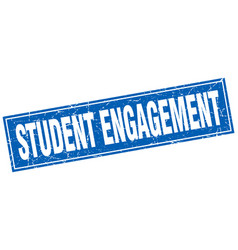 Student engagement square stamp vector