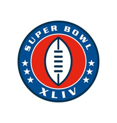 American super bowl seal 2010 vector