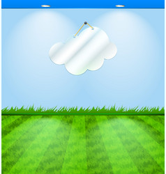 Eco themed room with cloud shaped mirror vector