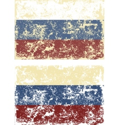 Old scratched flag vector