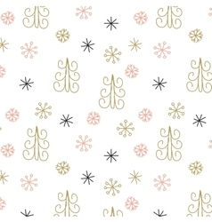 Christmas decoration pattern seamless background vector image