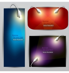 Empty placard for product advertising with lightin vector