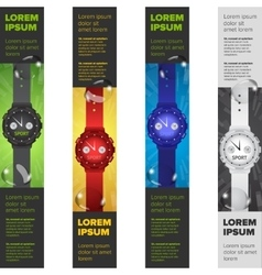 Banners set with watches vector