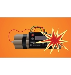 Bomb dynamite explosion vector