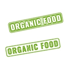 Realistic organic food rubber stamp vector
