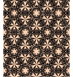 Seamless black decorative pattern vector