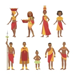 African national tribal outfit collection vector