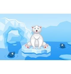 a polar bear on an arctic vector image vector image