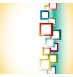 abstract background squares vector image vector image