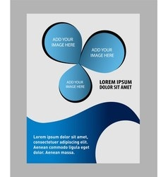 Abstract modern blue color template layout for cor vector