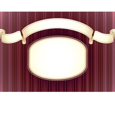 background in classic style vector image